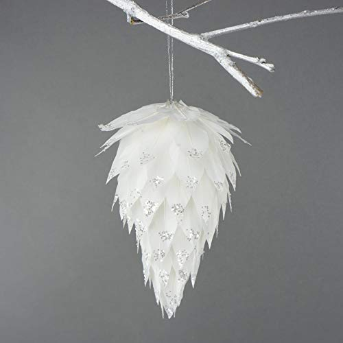 Feather Pine Cone Christmas Ornament - 6