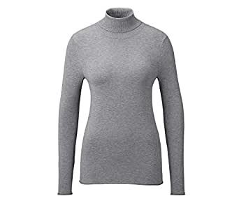 Womens Pullover Roll Neck Gray Mottled
