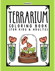 Terrarium Coloring Book: Open, Closed, and Aqua-Terrariums - 28 Pages of Unique Mini Environments for Kids and Adults