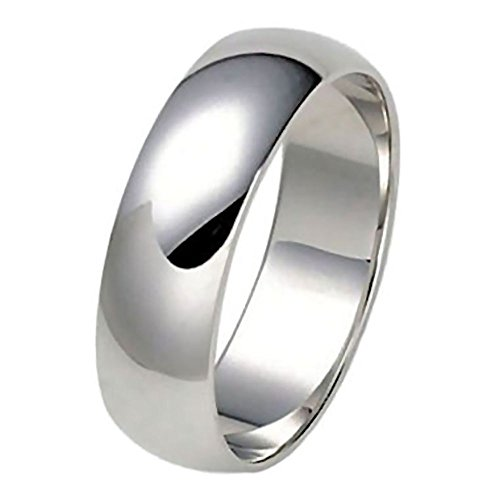 Trustmark Silver 6mm Classic Domed Unisex His n Hers Wedding Band Ring, Dragana 3126B sz (Best 1000 Jewels Friends Unisex Rings)