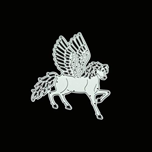 Hardli Wing Horse Scrapbooking Die,Cutting Dies,DIY Scrapbooking Stamp Paper Card Embossing Craft Gift Making