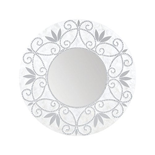 - Hamptons Collection Surrey Wall Mirror In Silver And White