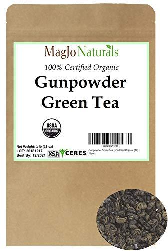 Gunpowder Green Tea | Certified Organic (16) (Green Tea Leaves Organic)