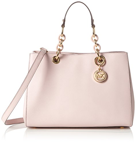 michael kors outlett ohi7  Michael Kors Cynthia Medium Satchel Saffiano leather Blossom/Gold