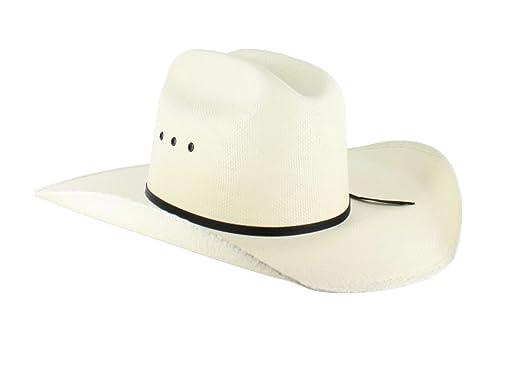 d49e0b92c5a Resistol Denison Unisex Cowboy Straw Hat (7) at Amazon Men s ...