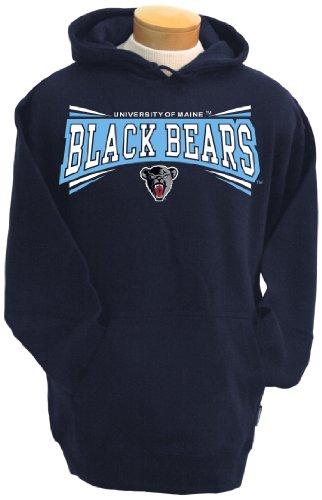 NCAA Maine Black Bears Men's Condor Hooded Sweatshirt (Navy, Large) (Bear Black Hooded Sweatshirt)