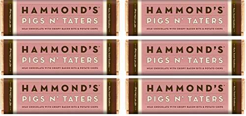 Chocolate Pig - Hammonds Gourmet Chocolate Bar - Kosher - 6 Pack - 2.25 oz each (Pigs N' Taters Milk)
