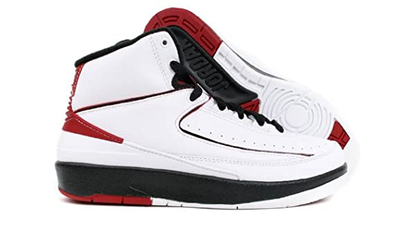 5701f7a8e5d Amazon.com | NIKE AIR JORDAN 2 RETRO (GS) BIG KIDS 395718-101 (6.5,  WHITE/VARSITY RED-BLACK) | Running