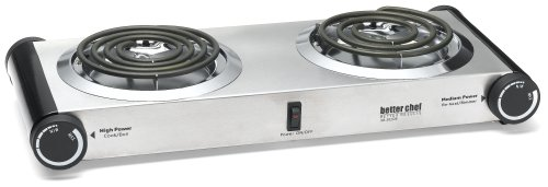 Better Chef Top Dual Buffet Burner Table Ceramic Self Cleaning Cooktop