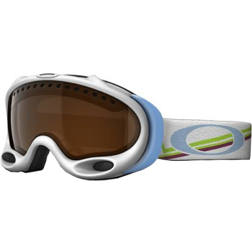 Oakley Gretchen Bleiler A Frame Geo Peaks Women's Special Editions Signature Series Ski Snowmobile Goggles Eyewear - Black Iridium / One Size Fits - Black Iridium A Oakley Frame