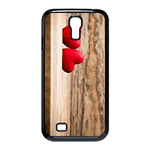 Heart on Wood Samsung Galaxy S4 9500 Cell Phone Case Black Y9677979