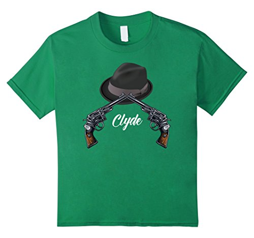 Kids Mr Clyde Gangster Couples Halloween Costume T-shirt 10 Kelly Green - Gangster Girl Costumes Ideas