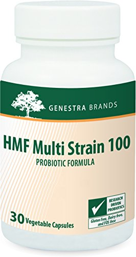 Genestra Brands - HMF Multi Strain 100 - Concentrated 14-Strain Probiotic Combination for Gastrointestinal Health - 30 Capsules