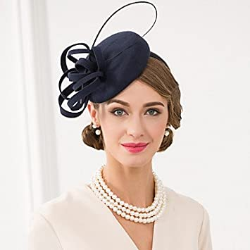 10fc8c37 YiLuFanHua MJW&W Women's Feather/Wool Headpiece-Wedding/Special Occasion/Casual  Fascinators/