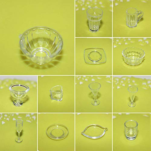 Cup Dish Plate Tableware Toys Cookware 13pcs Miniature Design for Accessories