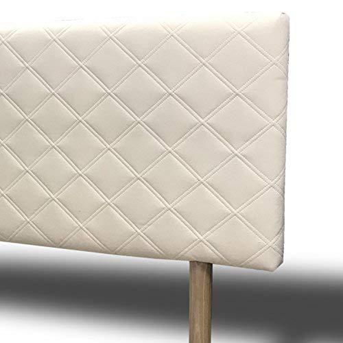 SUENOSZZZ-ESPECIALISTAS DEL DESCANSO - Cabecero Malmo Tapizado Chenilla Jazmin Beige (Cama de 90 cm. Medida: 100 cm x 100 cm x 6 cm.
