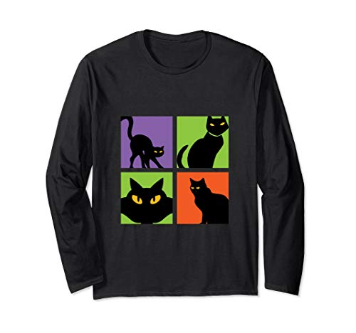 Halloween Black Cat T-shirt Witchcraft Spooky Superstition -