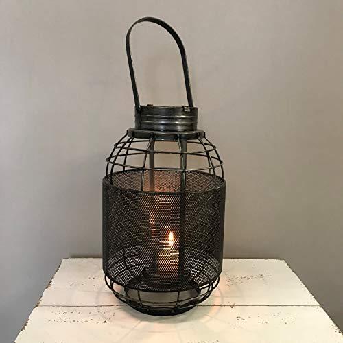 (Vintage Home Mood Industrial Loft Metal Mesh Lantern Candle Holder)