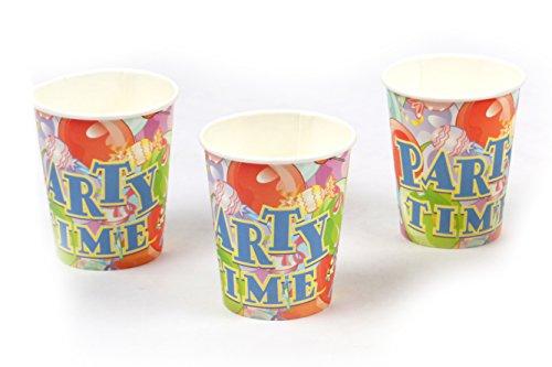 Funcart  #34; #34;Party Time  #34; Theme 9oz Paper Cup  6 pcs/Pack
