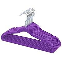 TQVAI 30 Pack Kids Velvet Hangers Non Slip Space Saver