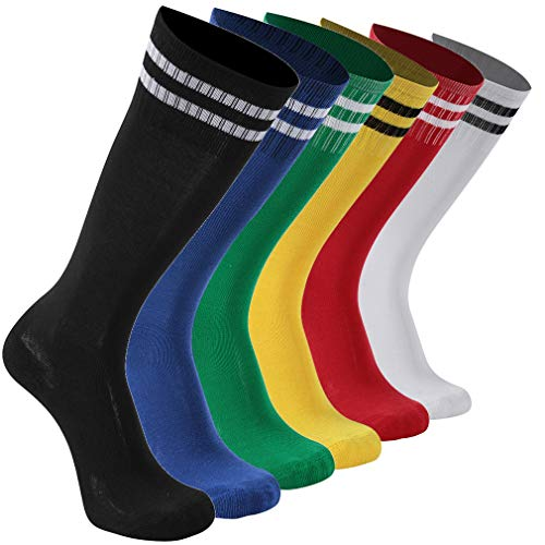 - Team Socks Children, transla wonder Teens Youth Soccer Socks Knee Long Running Socks Keen High Athletic Socks, 6 Pairs, 6 Colors