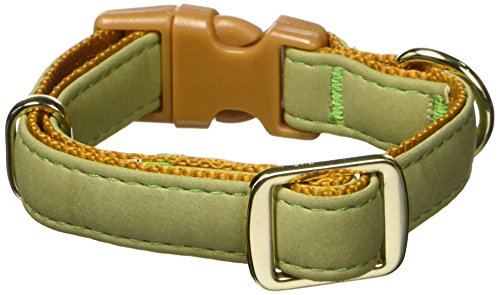 AKC 5/8 by 6-12-Inch Collar Adjustable Toy, Green, Small