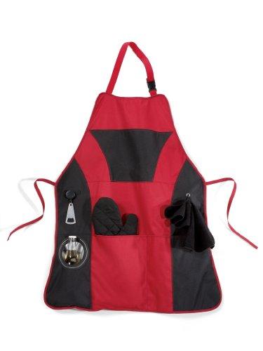 red bbq apron - 4