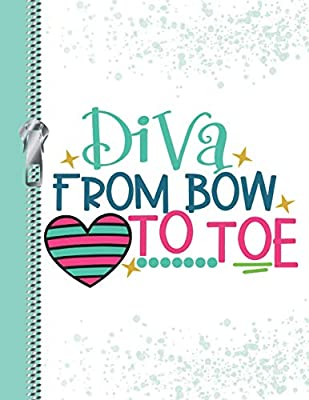 Diva from Bow to Toe: Cute College Ruled Composition Writing