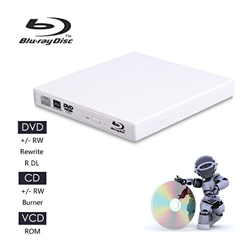Juanery-External Blu-ray CD Drives,USB 2.0 blu-ray DVD CD drive/BD - ROM/DVD player for various brands of desktop, laptop, super notebook and so on (white) by Juanery (Image #7)'