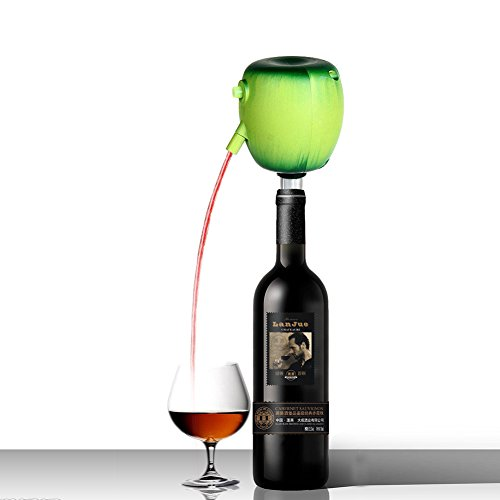 Pour Wine Into Decanter - EVERTOP Electric Wine Bottle Aerator Automatically Powered Wine Aerator Pourer, Green