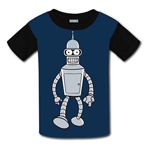 Custom Futurama-Bender Children Youth T-shirts Boys Girls Teenager Tee (Futurama Cosplay)