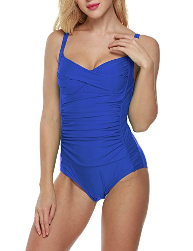 Ekouaer Womens One-Piece Swimsuit Bathing Suit Vintage Monokinis