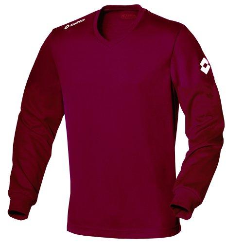 Lotto Mens Football Jersey Long Sleeve Team Evo Sports V Shirt (XL) (Granata)