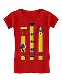 Fireman Uniform Firefighter Halloween Costume Toddler/Kids Girls' Fitted T-Shirt