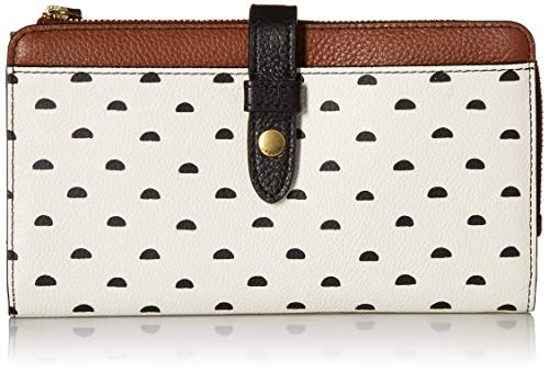 (Fossil Fiona Tab Clutch White Multi)