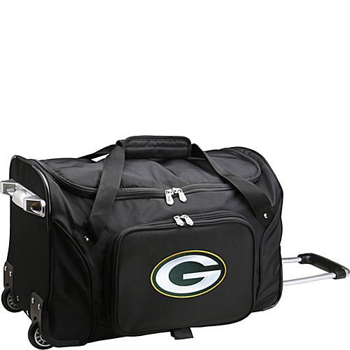 NFL 22'' Rolling Duffel Green Bay Packers by TableTop King