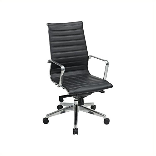 Office Star High Back Eco Leather Seat and Back, Locking Til