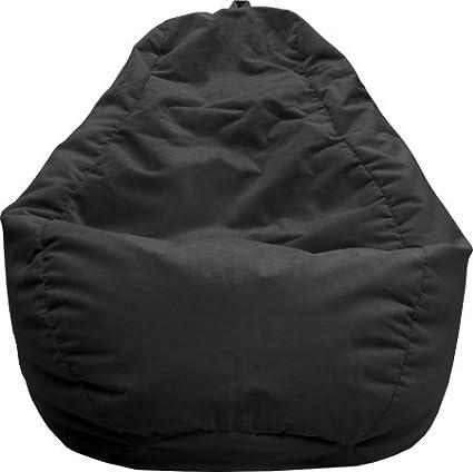 Wondrous Gold Medal Hudson Industries 31010584919 Large Tear Drop Micro Fiber Suede Bean Bag Black Beatyapartments Chair Design Images Beatyapartmentscom