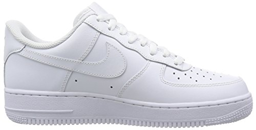 Amazon.com | Nike Air Force 1 07 Mens Sneakers Style# 315122 (12 Mens US, White/White) | Team Sports