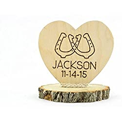 Wedding Collectibles Personalized Horseshoes Western Cake Topper