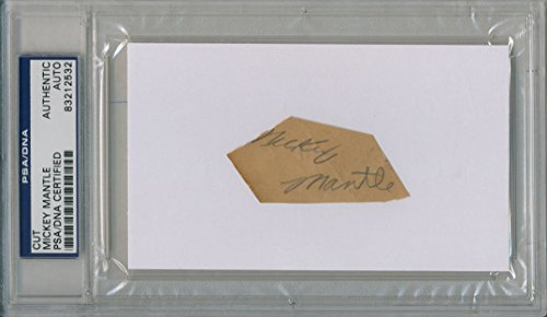 MICKEY MANTLE SIGNED AUTO PSA DNA AUTOGRAPH YANKEES 83212532