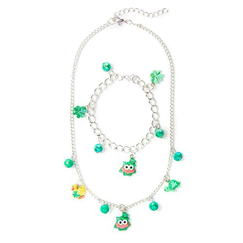 Claire's Accessories Girls St. Patrick's Day Charm Necklace and Bracelet Set