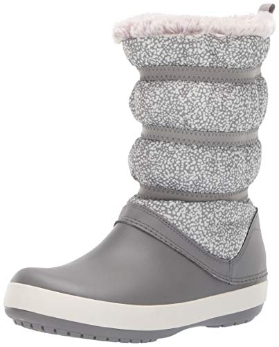 Crocs Women's Crocband Winter Boot W Snow, dots/Smoke, 8 M US ()