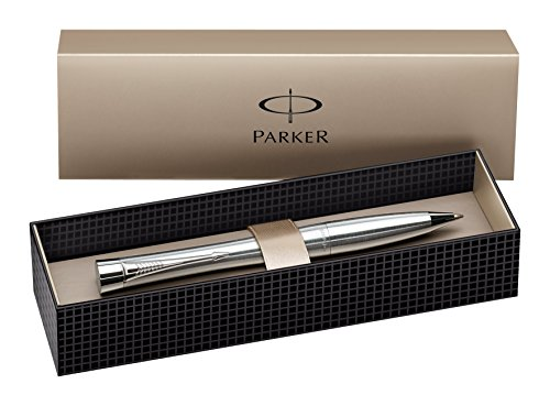 Parker Urban Chrome Trim Ballpoint Pen with Medium Nib - Metallic, Gift Boxed