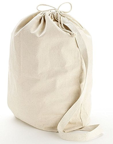 BagzDepot Heavy Canvas Laundry Bags With Shoulder Strap Easy to carry (Small-Medium-Large) sizes BD-QLB (MEDIUM (19
