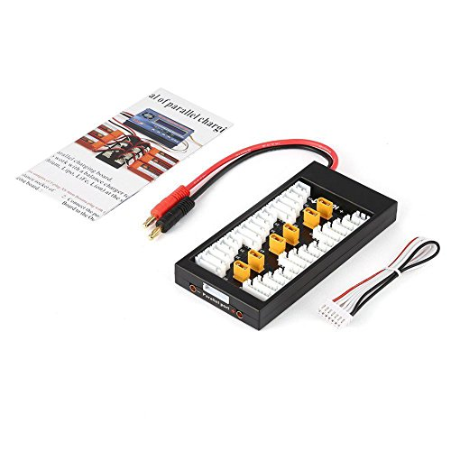 Favrison XT30 Plug 2S-6S 40A Lipo Battery Parallel Charging Board Battery Power Chager with Banana Plug