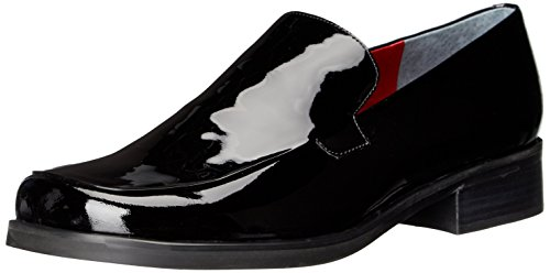 Franco Sarto Women's Bocca Loafer Black Patent Wide