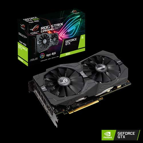 ASUS ROG -STRIX-GTX1650-A4G-GAMING GeForce GTX 1650 4 GB GDDR5 - Tarjeta gráfica (GeForce GTX 1650, 4 GB, GDDR5, 128 bit, 7680 x 4320 Pixeles, PCI Express 3.0)