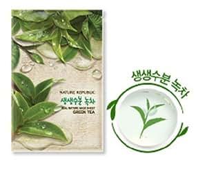 Nature Republic Real Nature Mask Sheet Greentea, 10Sheets