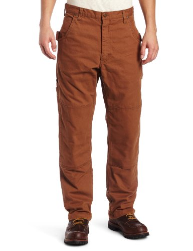 Key Apparel Men's Premium Relaxed Fit Duck Dungaree, Saddle, 42x32